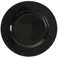 10 Strawberry Street BRB0001 Black Rim 10 3/4 inch Porcelain Dinner Plate   - 24/Case