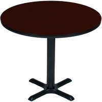 Correll BXB36R-20 36 inch Round Mahogany Finish Bar Height High Pressure Cafe / Breakroom Table
