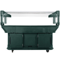 Carlisle 771108 Forest Green 6' Maximizer Portable Food / Salad Bar