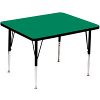Correll A4848-SQS-39 48 inch Square 16 inch - 25 inch Green Finish Adjustable Height High Pressure Top Activity Table