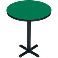 Correll BXB24R-39 24 inch Round Green Finish Bar Height High Pressure Cafe / Breakroom Table