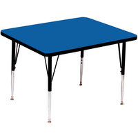 Correll A3636-SQS-37 36 inch Square 16 inch - 25 inch Blue Finish Adjustable Height High Pressure Top Activity Table