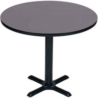 Correll BXB48R-07 48 inch Round Black Granite Finish Bar Height High Pressure Cafe / Breakroom Table