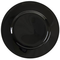 10 Strawberry Street BRB0002 Black Rim 9 1/8 inch Porcelain Luncheon Plate - 24/Case