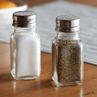 Anchor Hocking 90079 2 oz. Square Salt and Pepper Shaker - 4/Pack