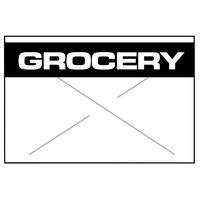 Garvey 1812-03375 1812 Series 11/16 inch x 1/2 inch White / Black GROCERY 1275-Count One-Line Cross-Cut Pricemarker Label Roll - 11/Pack