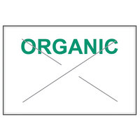 Garvey 1812-03764 1812 Series 11/16 inch x 1/2 inch White / Green ORGANIC 1275-Count One-Line Cross-Cut Pricemarker Label Roll - 11/Pack