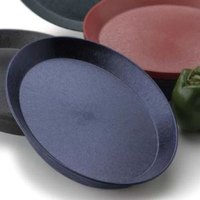 HS Inc. HS1056 12 inch Blueberry Polypropylene Round Deli Server - 24/Case