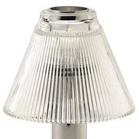Sterno Products 85446 Table Lamp Clear Glass Pleated Shade