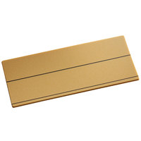 Cawley 1 1/2 inch x 3 inch Customizable Gold Plastic Rectangle Nametag
