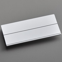 Cawley 1 1/2 inch x 3 inch Customizable White Plastic Rectangle Nametag