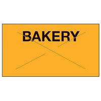 Garvey 2212-04691 2212 Series 7/8 inch x 1/2 inch Orange / Black BAKERY 1225-Count One-Line Cross-Cut Pricemarker Label Roll - 9/Pack