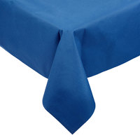 Hoffmaster 220834 50 inch x 108 inch Linen-Like Navy Blue Table Cover - 20/Case