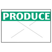 Garvey 1812-03830 1812 Series 11/16 inch x 1/2 inch White / Green PRODUCE 1275-Count One-Line Cross-Cut Pricemarker Label Roll - 11/Pack