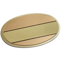 Cawley 1 3/4 inch x 2 1/2 inch Customizable Gold Premium Metal Oval Nametag