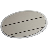 Cawley 1 3/4 inch x 2 1/2 inch Customizable Silver Economy Metal Oval Nametag