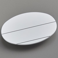 Cawley 1 3/4 inch x 2 1/2 inch Customizable White Plastic Oval Nametag