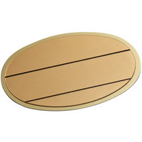 Cawley 1 3/4 inch x 2 1/2 inch Customizable Gold Economy Metal Oval Nametag