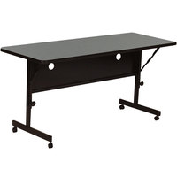 Correll FT2460-55 24 inch x 60 inch Montana Granite Rectangular Premium Laminate High Pressure Deluxe Flip Top Table