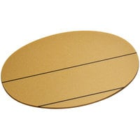 Cawley 1 3/4 inch x 2 1/2 inch Customizable Gold Plastic Oval Nametag