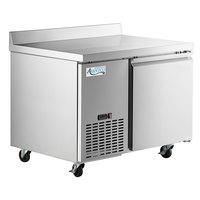 Avantco SS-WD-1R 44 inch Stainless Steel Extra Deep Worktop Refrigerator with 3 1/2 inch Backsplash