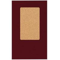H. Risch, Inc. 5000H-CRCC MON-PKT 5 inch x 9 inch Monticello Wine Colored Check Presenter