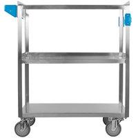 Carlisle UC5031827 3 Shelf Stainless Steel Utility Cart - 27 inch x 18 inch x 32 1/2 inch