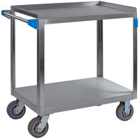 Carlisle UC7022133 2 Shelf Stainless Steel Utility Cart - 33 inch x 21 inch x 32 1/2 inch