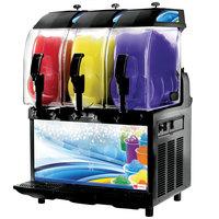 Crathco I-PRO 3M LIGHT PANEL (1206-005) Triple 2.9 Gallon Granita / Slushy / Frozen Beverage Machine with Manual Control and Light Panel - 115V
