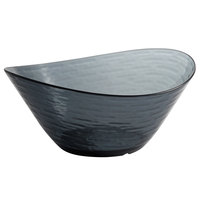 Libbey 92384 Infinium Wake 100 oz. Tritan Plastic Stackable Oval Bowl in Storm - 6/Case