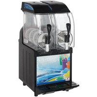 Crathco I-PRO 2M LIGHT PANEL (1206-001) Double 2.9 Gallon Granita / Slushy / Frozen Beverage Machine with Manual Control and Light Panel - 115V
