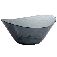 Libbey 92385 Infinium Wake 150 oz. Tritan Plastic Stackable Oval Bowl in Storm - 6/Case