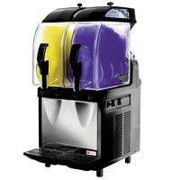 Crathco I-PRO 2M (1206-000) Double 2.9 Gallon Granita / Slushy / Frozen Beverage Machine with Manual Control - 115V