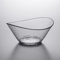 Libbey 92388 Infinium Wake 80 oz. Tritan Plastic Stackable Oval Bowl - 6/Case