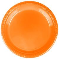 Creative Converting 28191021 9 inch Sunkissed Orange Plastic Dinner Plate - 240 / Case