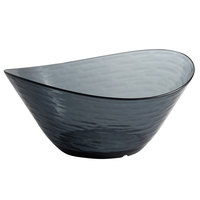 Libbey 92383 Infinium Wake 80 oz. Tritan Plastic Stackable Oval Bowl in Storm - 6/Case
