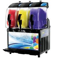 Crathco I-PRO 3E LIGHT PANEL (1206-007) Triple 2.9 Gallon Granita / Slushy / Frozen Beverage Machine with Electronic Control and Light Panel - 115V