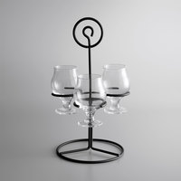 Acopa 3-Hole Metal Flight Carrier with Belgian Tasting Glasses