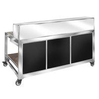 Eastern Tabletop HB6515B Hub Buffet 9-Piece Black / Stainless Steel Foldaway Bar