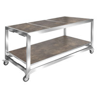 Eastern Tabletop HT4815ST Hub Buffet 66 inch x 30 3/4 inch x 32 1/4 inch Textured Laminate Banquet Table
