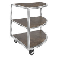 Eastern Tabletop ST5965RS Hub Buffet 31 1/2 inch x 44 1/2 inch x 33 inch 3 Reversible Shelf Corner Extension Table