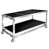 Eastern Tabletop HT4820GB Hub Buffet 66 inch x 30 3/4 inch x 32 1/4 inch Black Banquet Table