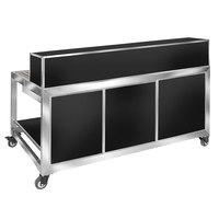 Eastern Tabletop HB6520B Hub Buffet 9-Piece Black Foldaway Bar