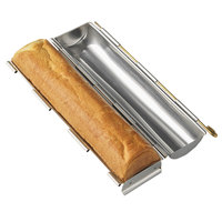 Matfer Bourgeat 341717 14 3/16 inch x 2 3/4 inch Stainless Steel Round Bread Pan