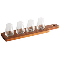 Acopa Dual-Sided Flight Paddle with Tulip Tasting Glasses