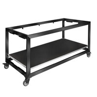 Eastern Tabletop ST5900MB Hub Buffet 66 inch x 30 3/4 inch x 32 1/4 inch Black XYLO Coated Stainless Steel Foldaway Table Frame