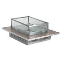 Eastern Tabletop ST5930BIB Hub Buffet 31 7/16 inch x 22 1/4 inch x 3/4 inch Grey Grain Drop-In Glass Ice Bin Tile
