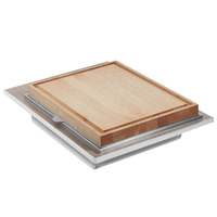 Eastern Tabletop ST5975WB Hub Buffet 31 7/16 inch x 22 1/4 inch x 3/4 inch Grey Grain Drop-In Carving Station Tile
