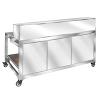 Eastern Tabletop HB6510S Hub Buffet 9-Piece Brushed Stainless Steel Foldaway Bar