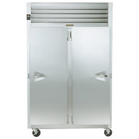 Traulsen G20016P 2 Section Solid Door Pass-Through Refrigerator - Right / Left Hinged Doors